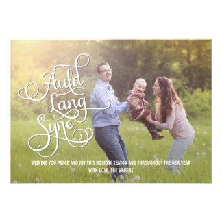 Cartão com fotos Auld do ano novo de Lang Syne Convite Personalizado