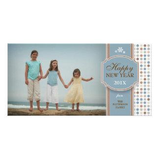 Cartão com fotos branco azul do divertimento de Br Cartão Com Foto