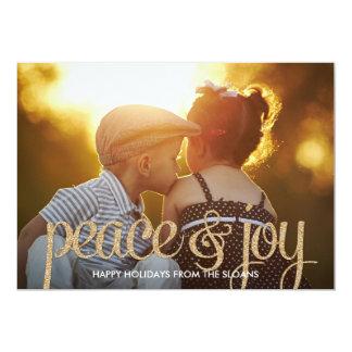 Cartão com fotos brilhante do feriado da paz & da convite 12.7 x 17.78cm