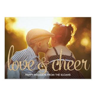 Cartão com fotos brilhante do feriado do amor & do convite 12.7 x 17.78cm