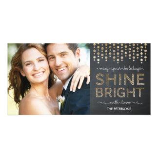 Cartão com fotos brilhante do feriado do brilho - cartão com foto