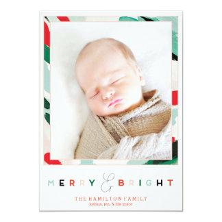 Cartão com fotos brilhante do feriado do quadro convite 12.7 x 17.78cm