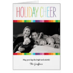 Cartão com fotos brilhante e colorido do feriado