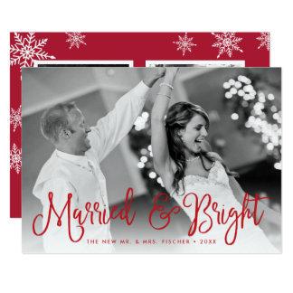 Cartão com fotos casado & brilhante do feriado +