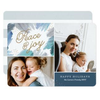 Cartão com fotos Cerulean do feriado