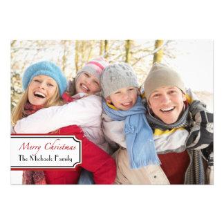 Cartão com fotos chanfrado simples convite personalizado