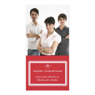 Cartão com fotos clássico do feriado do negócio da