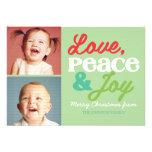 Cartão com fotos colorido da família do amor, da p convites personalizados