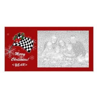 Cartão com fotos - competindo o Natal da bandeira