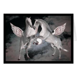 Cartão com fotos completo dos cavalos da fantasia