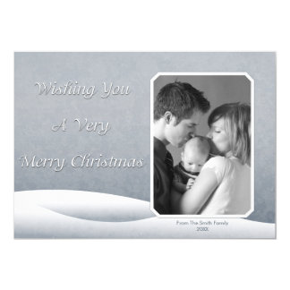 Cartão com fotos congelado da neve convite 12.7 x 17.78cm