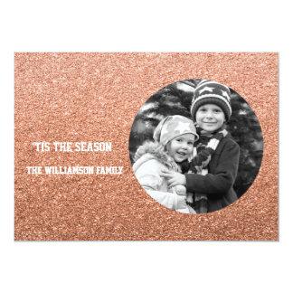 Cartão com fotos cor-de-rosa B/W do feriado do