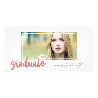 Cartão com fotos cor-de-rosa do anúncio da cartão com foto