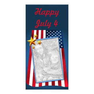 Cartão com fotos customizável patriótico da cartão com foto