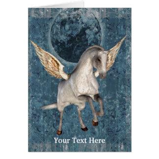 Cartão com fotos da arte do cavalo da fantasia de