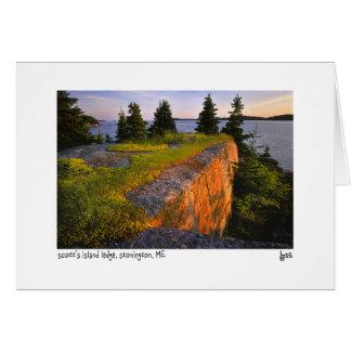 Cartão com fotos da borda da ilha de Scott