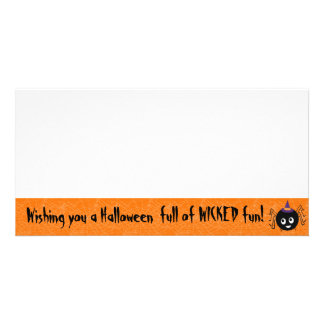 cartão com fotos da bruxa da aranha do Dia das Bru