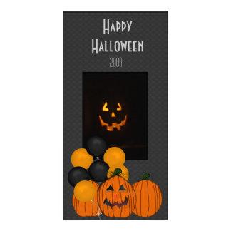Cartão com fotos da celebração do Dia das Bruxas