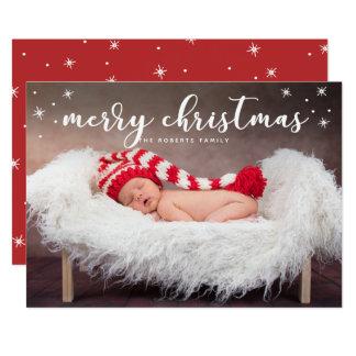 Cartão com fotos da cintilação do Feliz Natal