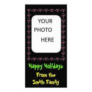 Cartão com fotos da família da moldura para retrat