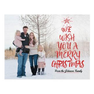 Cartão com fotos da família da tipografia do Feliz
