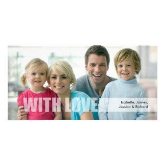 Cartão com fotos da família do amor do dia dos cartão com foto