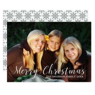 Cartão com fotos da família do Feliz Natal