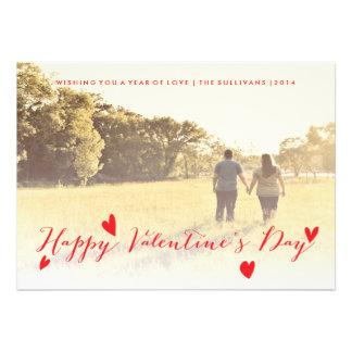 Cartão com fotos da família do feriado do dia dos convites personalizados