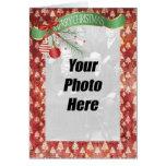 Cartão com fotos da família do Natal