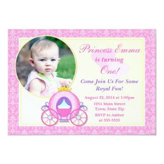 Cartão com fotos da princesa Aniversário Convite
