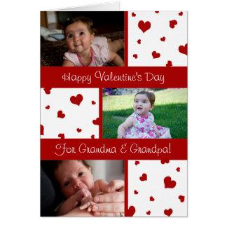 Cartão com fotos das avós do feliz dia dos