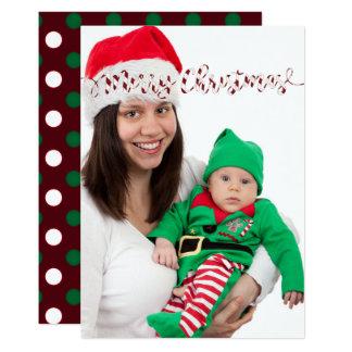 Cartão Cartão com fotos das bolinhas & das listras do