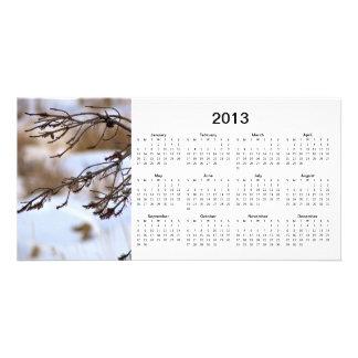 Cartão com fotos de 2013 calendários