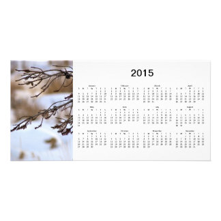 Cartão com fotos de 2015 calendários cartão com foto
