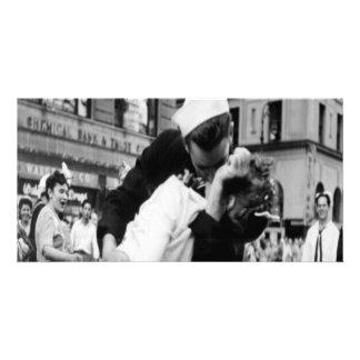 Cartão com fotos de beijo do beijo do vintage Coup