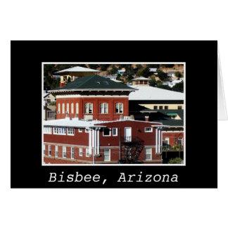 Cartão com fotos de cobre de Bisbee AZ do hotel da