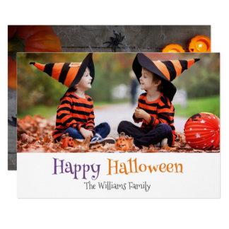 Cartão com fotos de esqueleto da família do Dia Convite 12.7 X 17.78cm