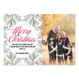Cartão com fotos de papel do Feliz Natal
