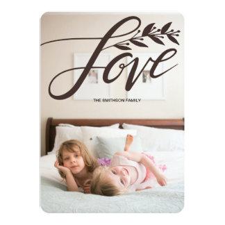 Cartão com fotos de papel do feriado do amor