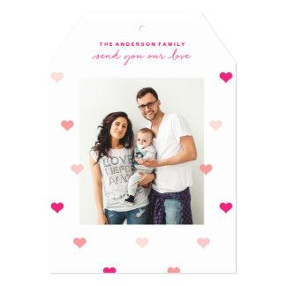 Cartão com fotos dispersado do dia dos namorados
