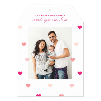Cartão com fotos dispersado do dia dos namorados convite 12.7 x 17.78cm