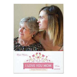 Cartão com fotos do amor do dia das mães