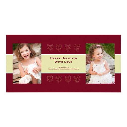 Cartão com fotos do amor do feriado