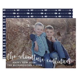 Cartão com fotos do ano novo do roteiro da