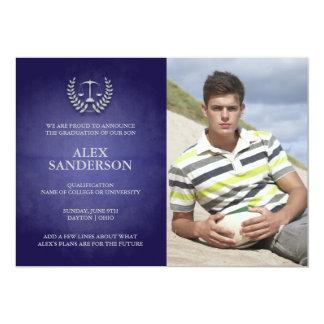 Cartão com fotos do anúncio da graduação da escola convites