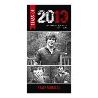 Cartão com fotos do anúncio da graduação do Grunge Cartão Com Foto