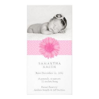 Cartão com fotos do anúncio do bebê cartão com foto