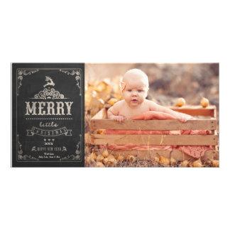 Cartão com fotos do anúncio do bebê do quadro do cartão com foto