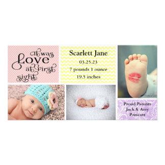 Cartão com fotos do anúncio do Colagem-Nascimento Cartão Com Foto