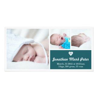 Cartão com fotos do anúncio do nascimento da cartão com foto